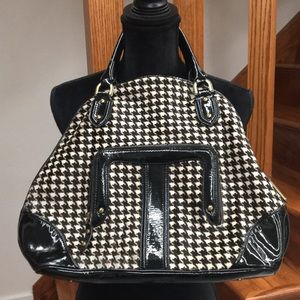 Vintage Cole Haan Houndstooth Patent Leather Bag